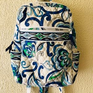 Vera Bradley Mediterranean white small backpack